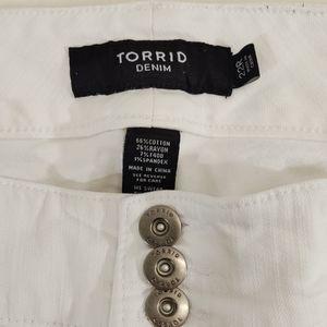 Torrid White Denim Stretch Jeggings Plus 22R